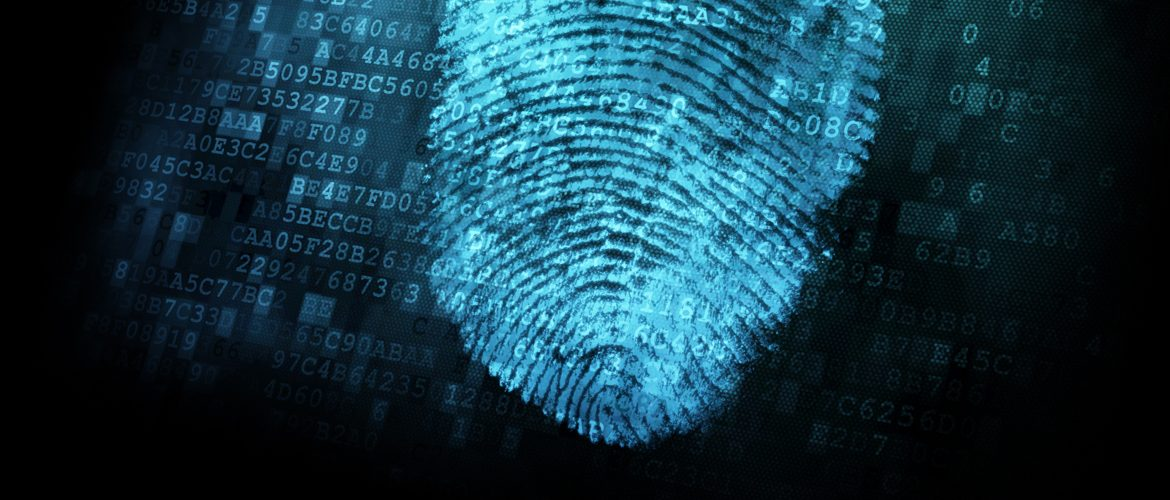 Image of a fingerprint on digital screen